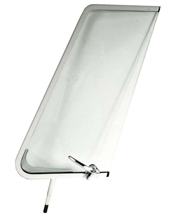 Right Opening Quarter Light White with Chrome Catch