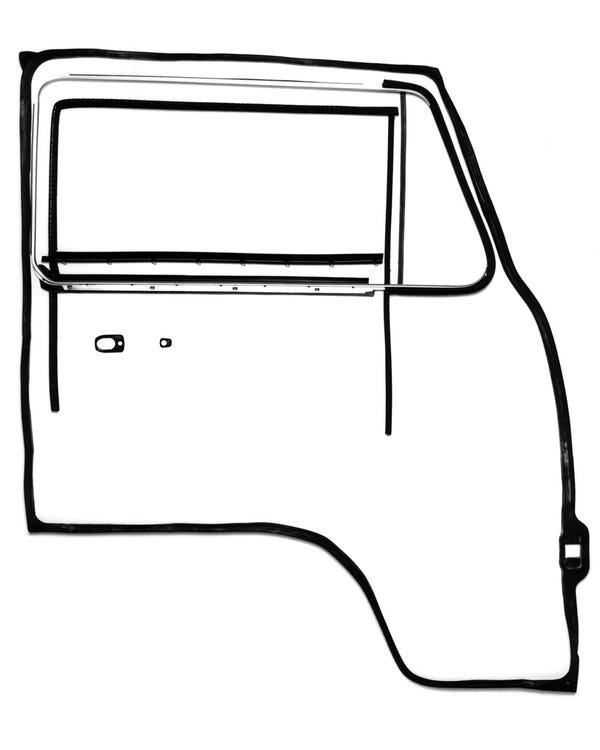 Door Seal 12 Piece Set Left with Fixed Quarter Window