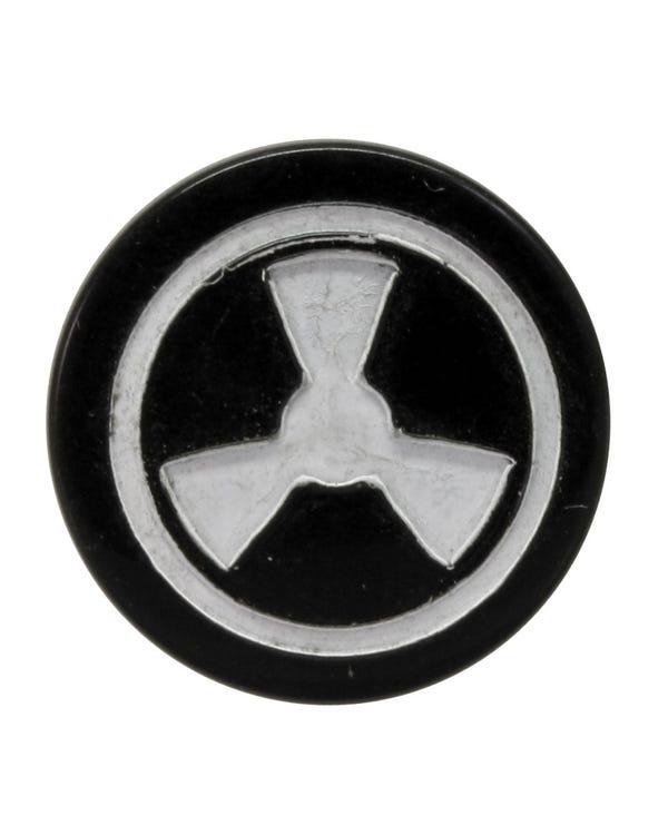 Tapa del mando de aire fresco con un símbolo de ventilador