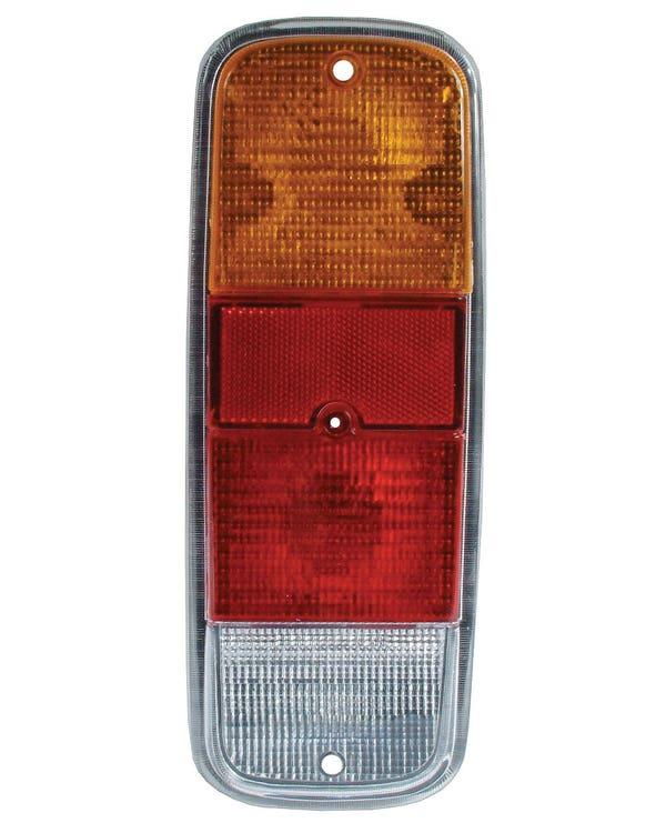 Rear Light Lens Amber Red and Clear