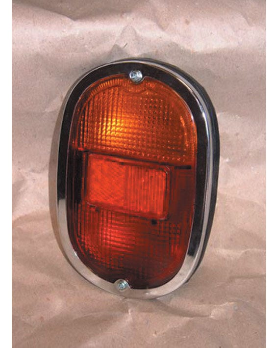 Rear Light Assembly with Chrome Trim and Dual Bulb Holders