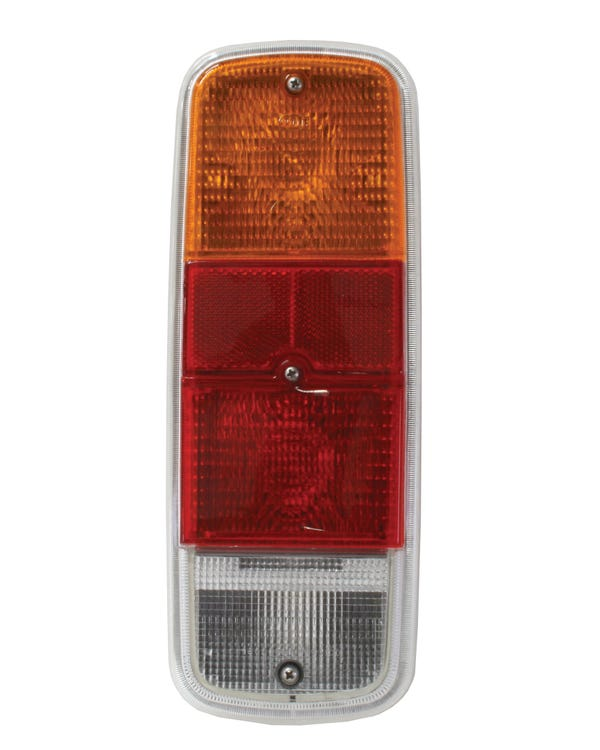 Rear Light Assembly with Amber Red and Clear Lens