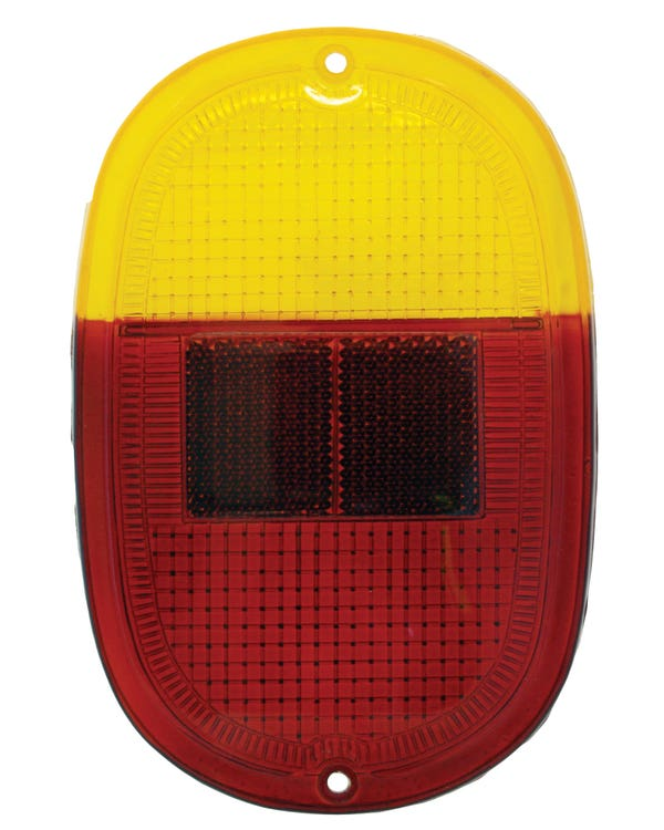 Rear Light Lens in Amber and Red