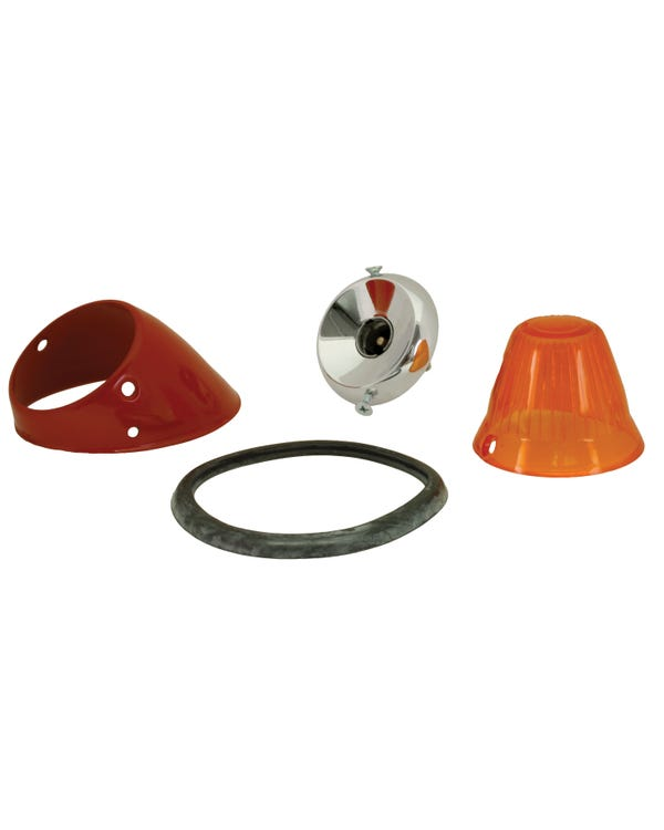 Bullet Front Indicator Assembly with Amber Lens Right