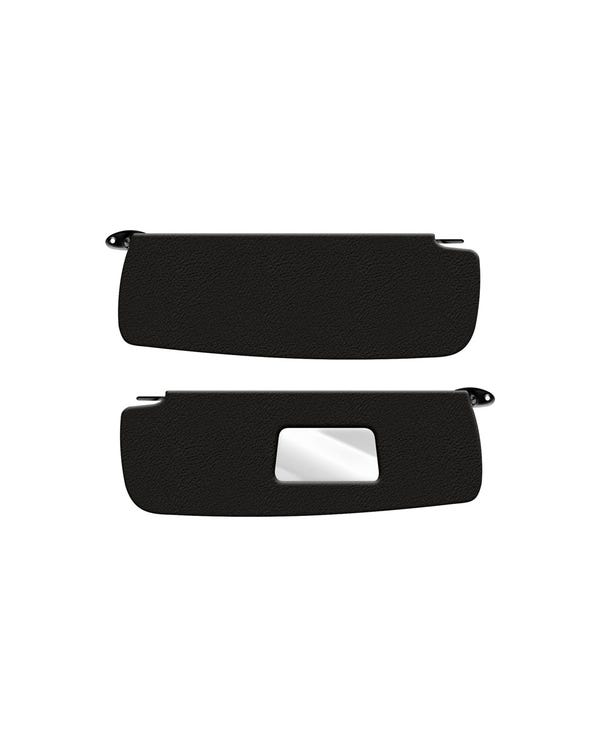 Sun visors in Black for Left Hand Drive with Vanity Mirror