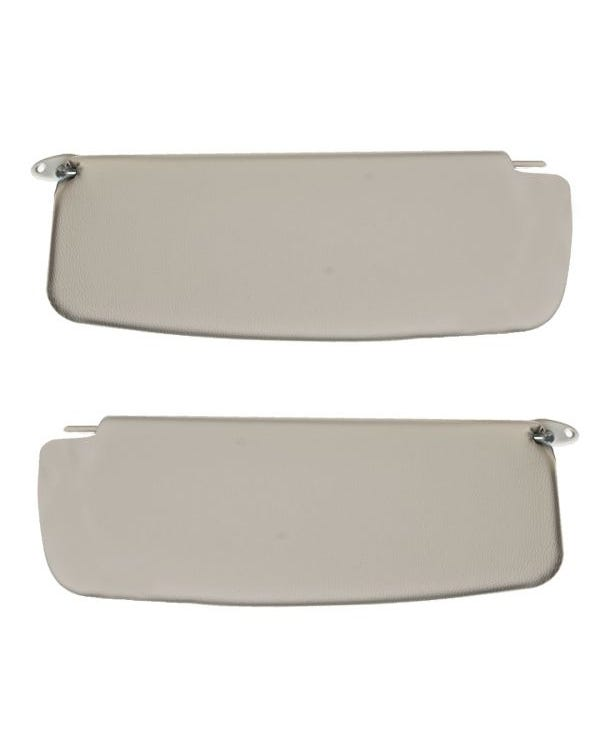 Sun visors in White without Vanity Mirror