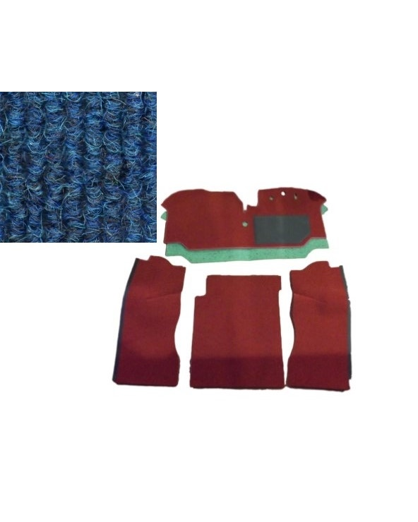 Cab Floor Carpet Set for Right Hand Drive Blue