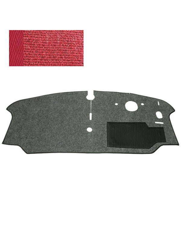 Cab Floor Carpet for Right Hand Drive Red