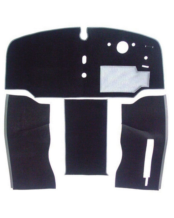 Carpet Set for Right Hand Drive, Black