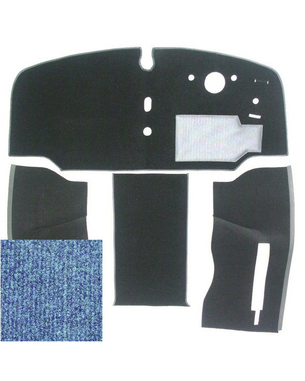 Carpet Set for Right Hand Drive, Blue
