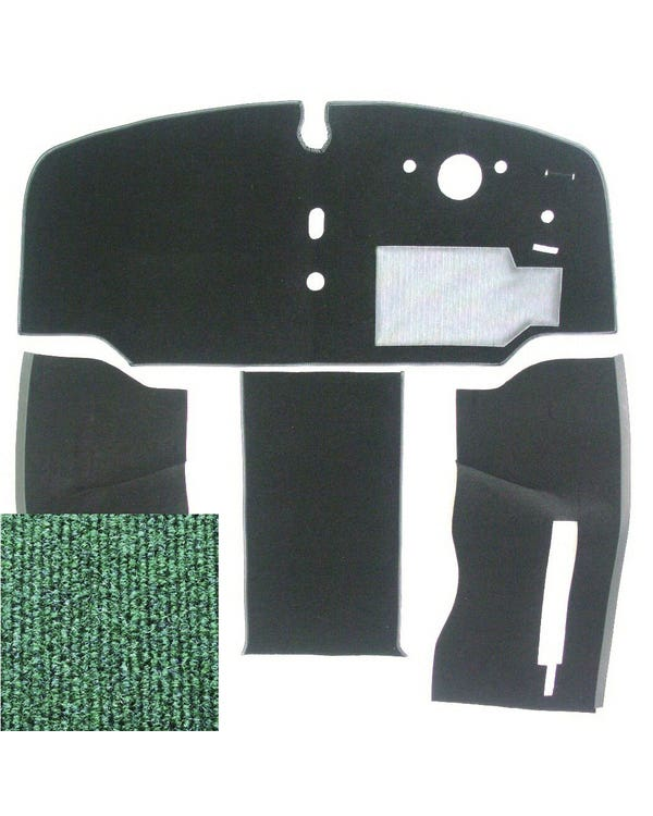 Carpet Set for Right Hand Drive Green