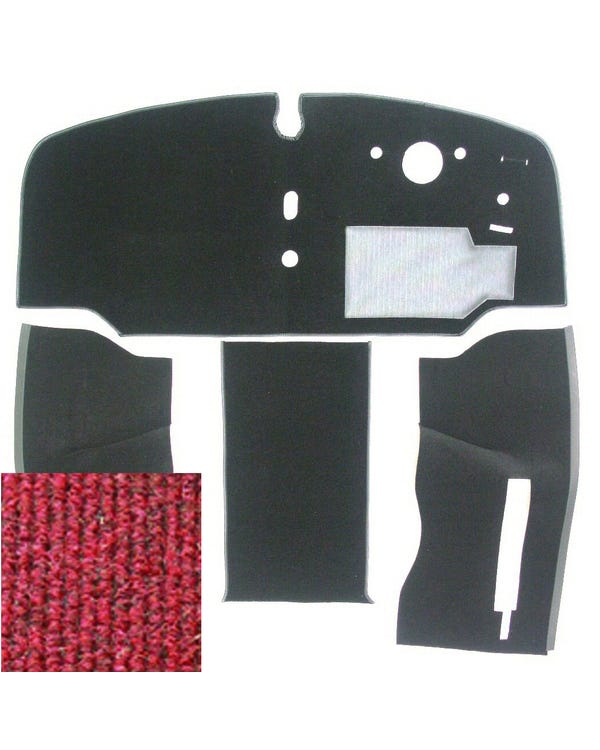 Carpet Set for Right Hand Drive Red