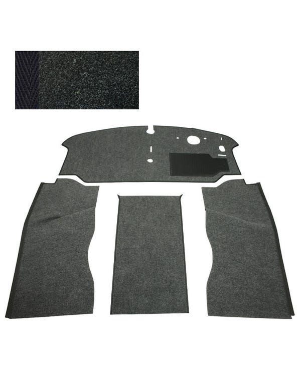 Carpet Set for Right Hand Drive Black