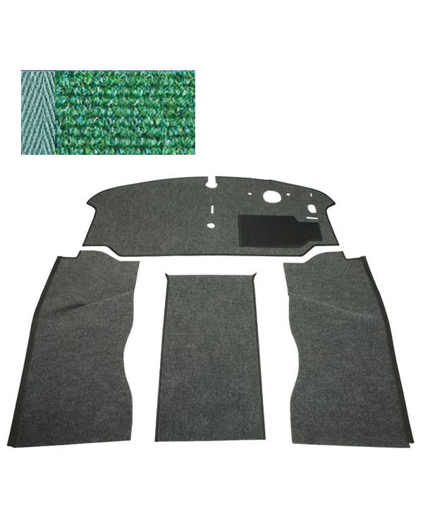 Carpet Set for Right Hand Drive, Green