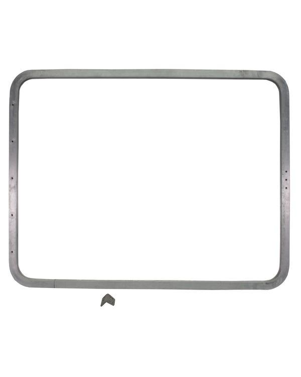 Marco de ventana abatible de aluminio