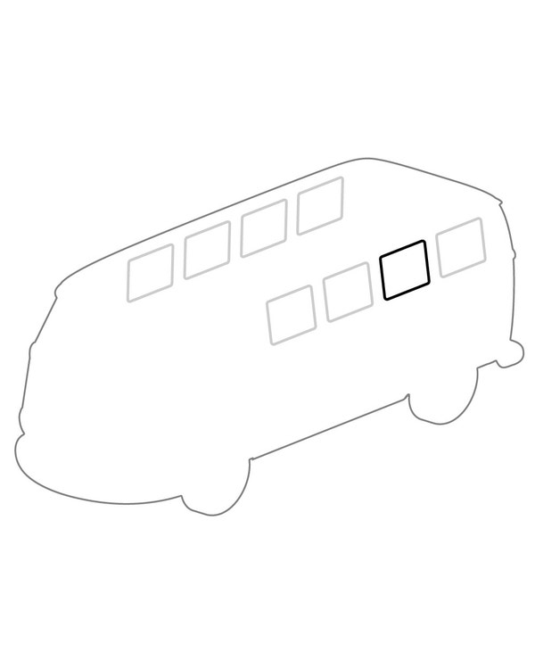 Seal, Side Pop-Out Window Frame to Body, Each