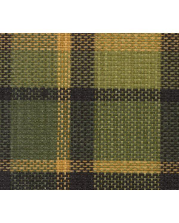 Westfalia-Stoff, grün und gelb kariert
