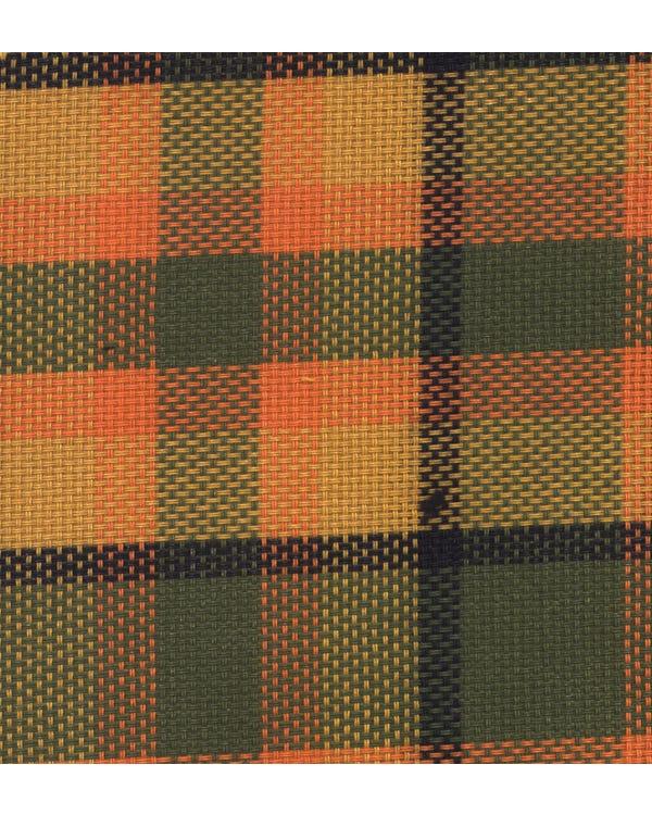 Westfalia Green over Orange Plaid Fabric