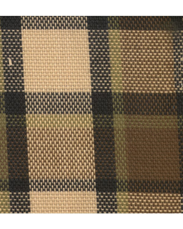 Westfalia Brown over Beige Plaid Fabric
