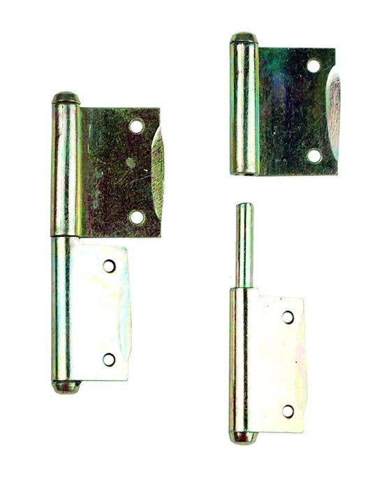 Pareja de bisagras de puerta de armario de Westfalia SO23 o SO43, izquierda a derecha