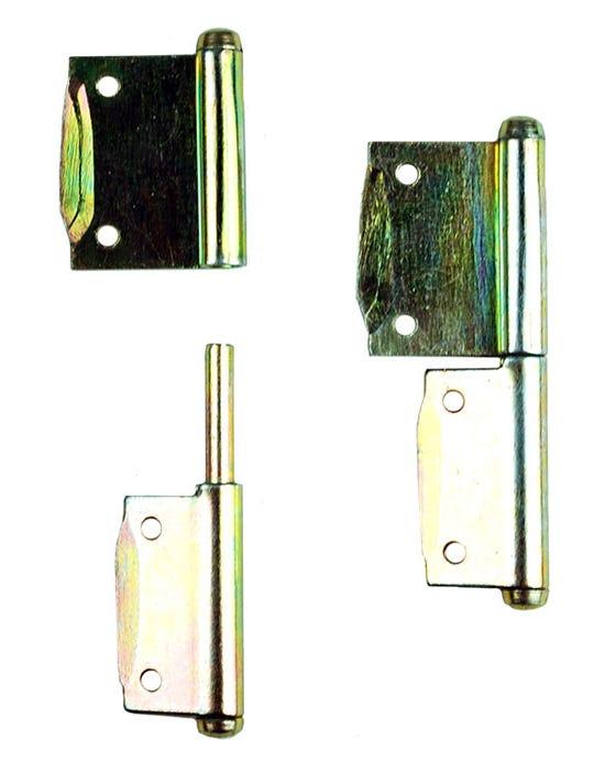 Pareja de bisagras de puerta de armario de Westfalia SO23 o SO43, derecha a izquierda