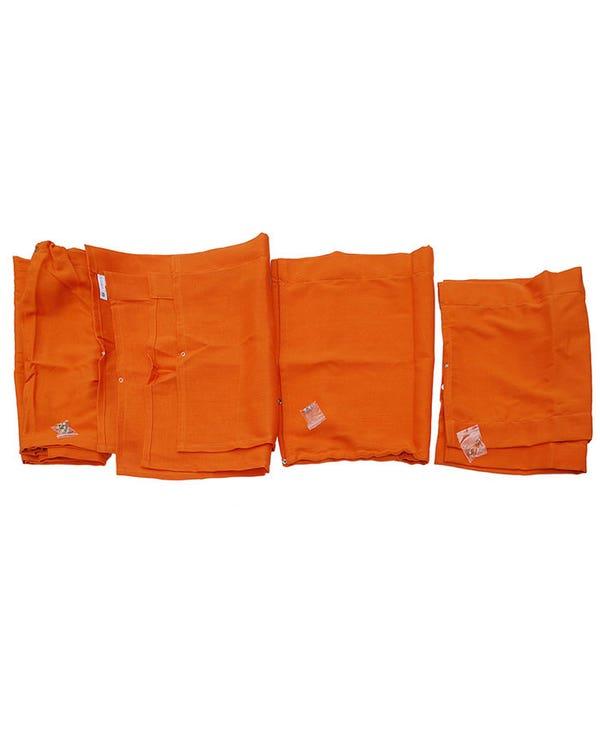Westfalia 10 Piece Orange Curtain Set