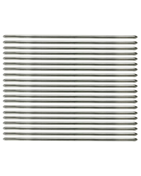 Vent Louver Trim Set Stainless Steel including Clips