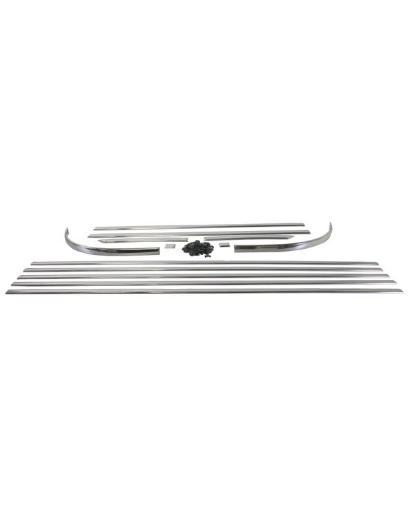 Kit 13 molduras deluxe aluminio. Volante a la derecha