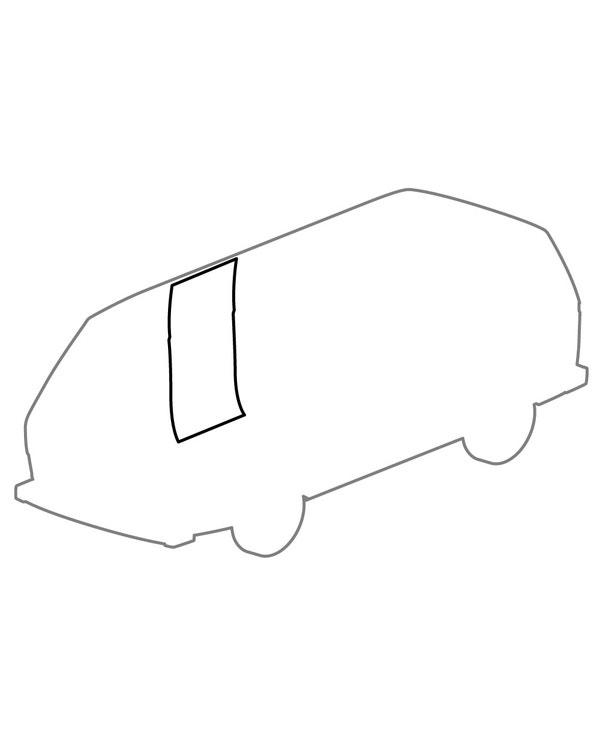 Door Surround Seal Rear Right for Crew Cab