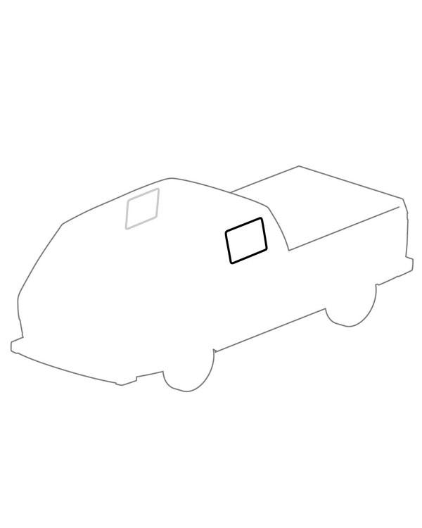 Side Window Seal,Crew Cab, Opening Door Side