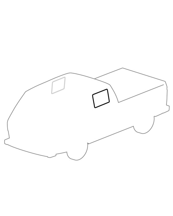 Side Window Seal for Crew Cab