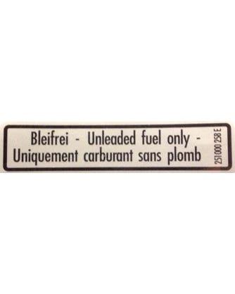 Sticker Unleaded Fuel, Vanagon