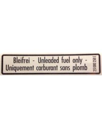 Sticker Unleaded Fuel, T25