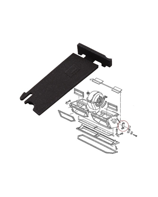 Heater Control Bearing Flap - Left