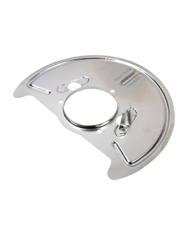 Front Brake Disc Backing Plate Left