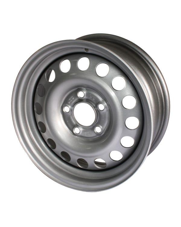 Silver Steel Wheel 6Jx16'' ET30 5x112 Stud Pattern