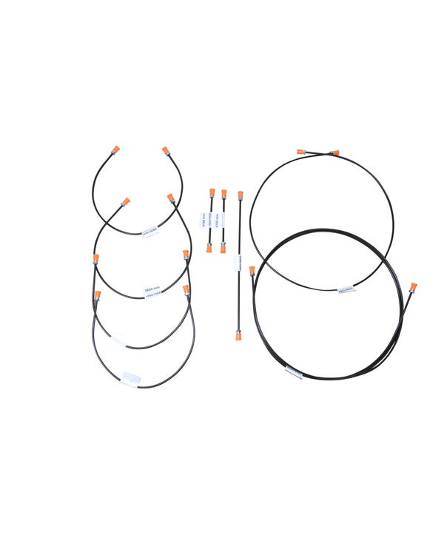 Juego de tubos de frenos, 9 piezas, revestimiento de plástico/acero