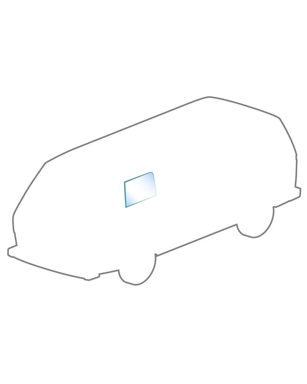 Cab Door Glass, Clear in color, for Left Side.