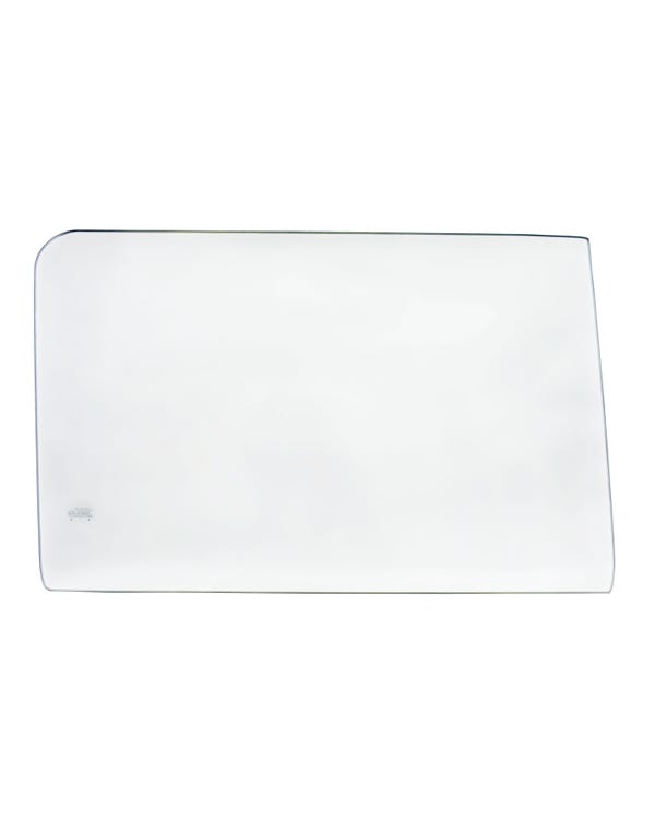 Cab Door Glass, Clear in color, for Right Side.