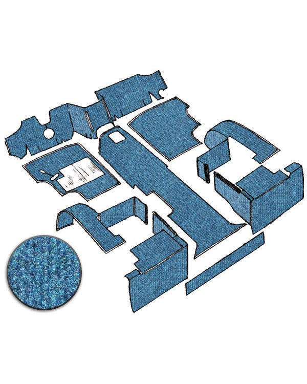 Carpet Set for Left Hand Drive Blue gas
