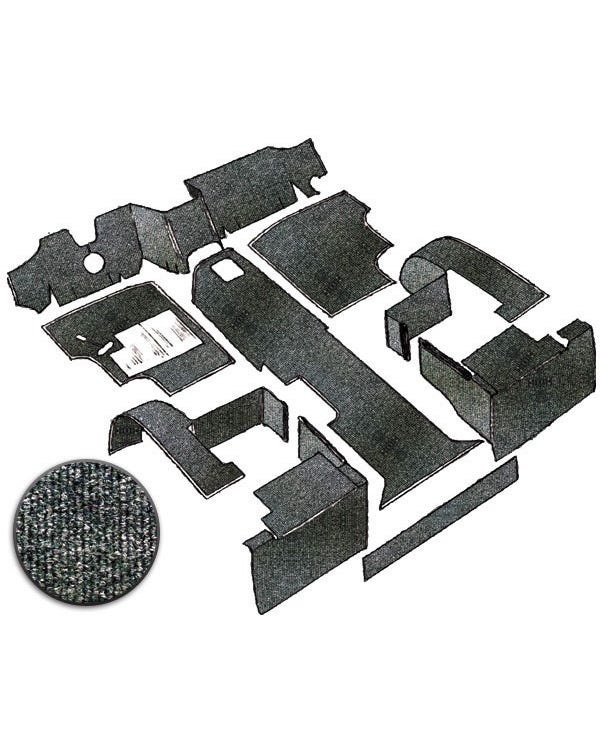 Carpet Set for Left Hand Drive Charcoal Diesel
