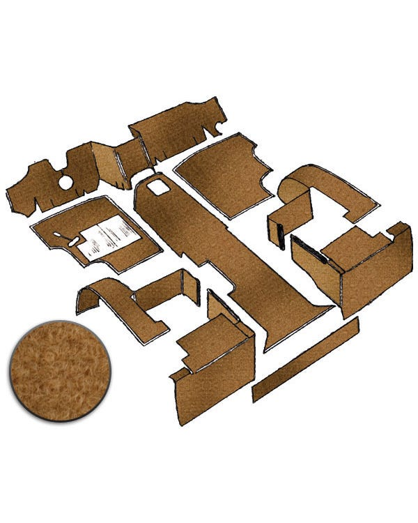 Carpet Set for Left Hand Drive Biscuit gas