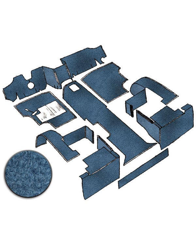 Teppichsatz für Linkslenker, Blau, Benzin