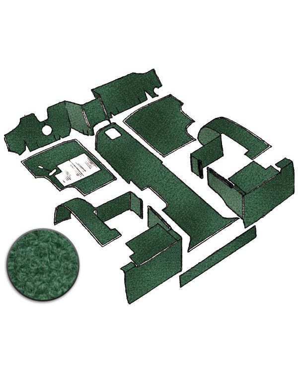 Carpet Set for Left Hand Drive Green Petrol