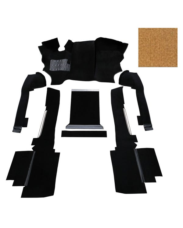 OE Spec Carpet Set in Biscuit Nylon for Left Hand Drive Turbo Diesel