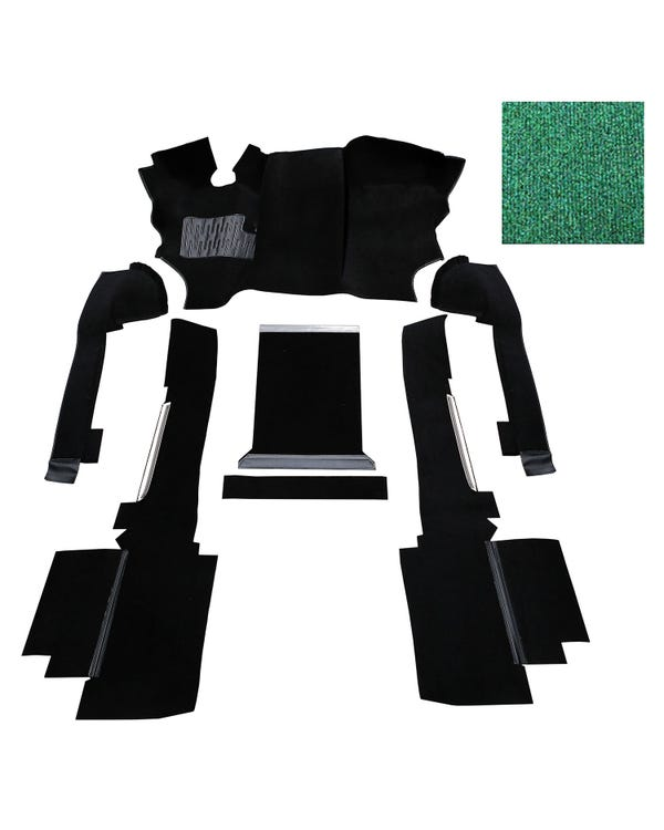 OE Spec Carpet Set in Green Nylon for Left Hand Drive Turbo Diesel