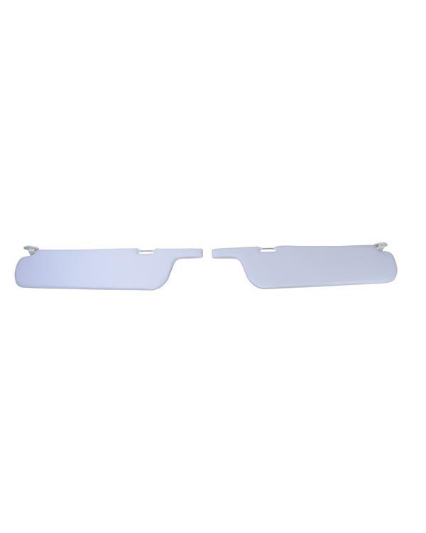 Sun visor Set in White