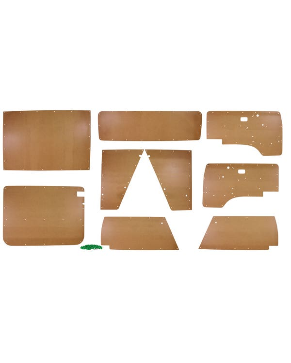 9 Piece Interior Bare Wood Panel  Kit, Models for Left Hand Drive