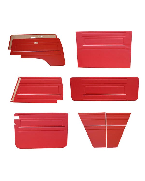 9 Piece Interior Panel Kit with Chrome Strips for Left Hand Drive