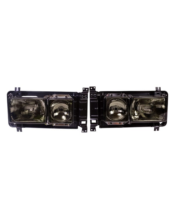Square Headlight Kit Left Hand Drive Smoked
